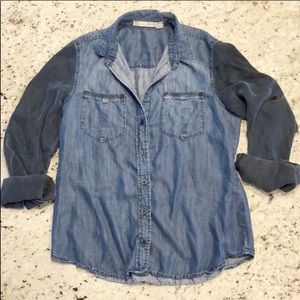 Chelsea and violet denim shirt jean button down